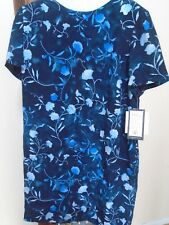 Patrick Woman Collection Size 20 Navy Floral Dress NEW