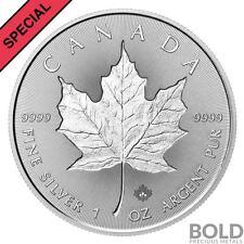 2018 30th Anniversary 1 oz .9999 Silver Canada Maple Leaf Incuse BU Coin PRESALE