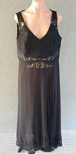 ❤️ CITY CHIC Evening Sleeveless Maxi Dress Black Size S PLUS Buy7=FreePost L854