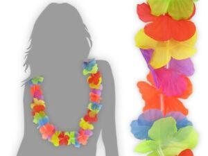 12 Stk. Hawaiiketten Set Hula Kette Karneval Party-Deko Blumen-Ketten Hawai 01