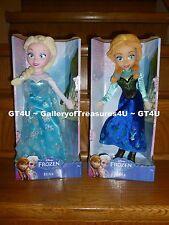 "Disney Princess Frozen ELSA & Anna 14 - 15"" Plush Dolls Stuffed Cloth Medium"