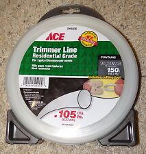 NEW Ace Trimmer Line, .105 in Diameter, 150ft Length, 10 Refills, Model 7215536