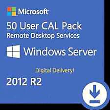 WINDOWS SERVER 2012 R2 REMOTE DESKTOP SERVICES RDS 50 USER CAL KEY ESD FATTURA