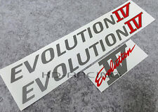 Evolution IV Door and Boot Decal Sticker Evo 4 Mitsubishi Ralliart Lancer GSR
