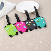 Travel Suitcase Shape Luggage Tags Cards Baggage Labels Suitcase Claim Tags WA