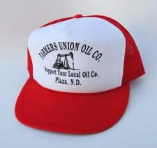 FARMERS UNION OIL CO. Baseball Cap Hat SUPPORT YOUR LOCAL OIL CO. PLAZA ND