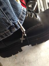 Motorcycle Biker Scooter Pants Hold Down Clips - Boot Straps - Cross