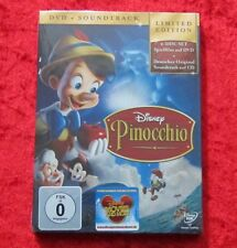 Pinocchio Limited Edition, Walt Disney DVD + Soundtrack 2-Disc Set, Neu