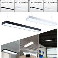 LED Pendelleuchte Deckenlampe Büro Hängeleuchte Kronleuchter 90cm/120cm 48W/60W