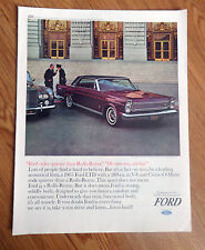 1965 Ford Galaxie 500/LTD 4 Door Hardtop Ad Rides Quieter than Rolls-Royce