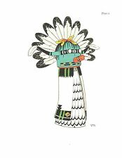 VIRGINIA ROEDIGER Pueblo Tribes Ceremonial Print KACHINA DOLL, SIO SHALAKO