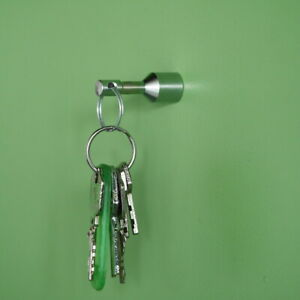Magnet Key Chain Keyring Portable Magnetic Pendant Portable Silver Anti Lost