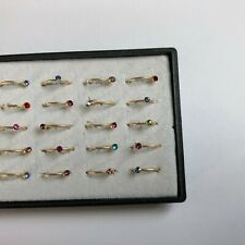 MULTI GOLD INDIAN BOLLYWOOD NOSE RING STUD NATH CLIP ON CRYSTAL JEWELLERY NEW X3