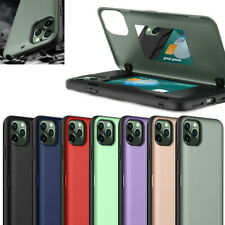 For iPhone 11 Pro Max XR XS 6s 7 8 Plus Card Holder Armor Hybrid Rugged TPU case
