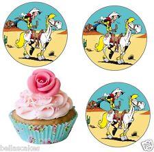 Eßbar Tortenaufleger Lucky Luke Pferd Party Deko Muffinaufleger Cowboy dvd neu