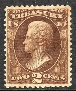 [DZ] US #O73~ 1873  'TREASURY DEPARTMENT' 2c Official ~ Mint-OG ~ Free Shipping!