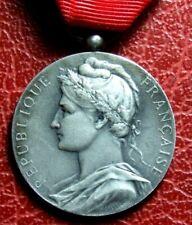 Art Nouveau Marianne minister work & social welfare silver 1952 medal BORREL