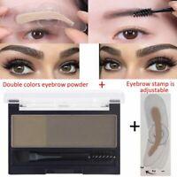 Eyebrow Stamp Powder Seal Waterproof Shadow Set Natural Shape Dark Brown Brow