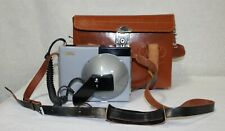 Vintage Canon Speedlight Unit V With Leather Case and Booklet, Untested
