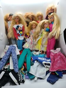 Massive Lot Of Vintage Barbies Ken W Clothes Estate