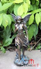 Fée Magique Décoration De Jardin bronze effet Figurine Ange Statue Cadeau 26 cm