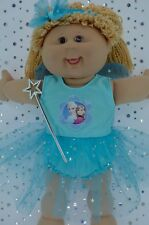 "Play n Wear Doll Clothes For 16"" Cabbage Patch AQUA FAIRY~PANTS~HEADBAND~WAND"