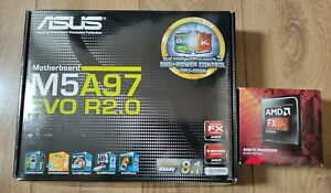 AMD FX 8320 CPU + ASUS M5A97 EVO R2.0 Motherboard and 8GB DDR3 Crucial RAM