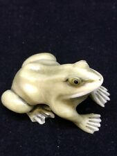 japanese netsuke Frog carvings