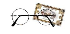 Harry Potter Glasses with Hogwarts Express Train Ticket