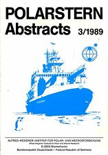 Hempel, I (editor) POLARSTERN ABSTRACTS 3/1989 Paperback BOOK
