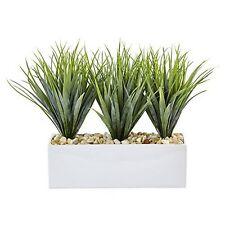 Nearly Natural 6915 Vanilla Grass in Rectangular Planter NEW