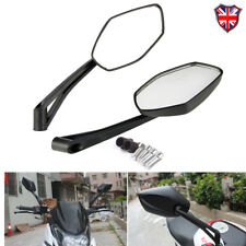 Black Motorcycle Wing Mirrors Universal 8mm 10mm Thread Motorbike Scooter Pairs