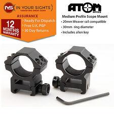 Palanca de apertura rápida 30mm mediana perfil alcance del rifle montaje.