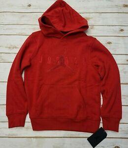 NIKE Big Kids'(Boys') Air Jordan Hoodie Gym Red 956678 R78 - Med New