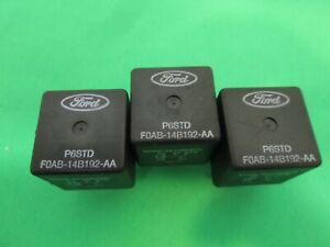 LOT OF 3 OEM Ford Mercury F0AB-14B192-AA FOAB-14B192-AA BLACK P6STD Relays