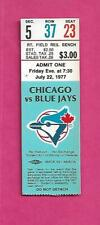RARE 1977 BLUE JAYS FIRST YEAR  TICKET STUB  (INV# C4834)