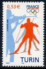TIMBRE FRANCE NEUF N° 3876 ** SPORT / JEUX OLYMPIQUES D'HIVER DE TURIN BIATHLON