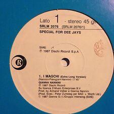 GIANNA NANNINI • I Maschi • Vinile 12 Mix PROMO • 1987 RICORDI