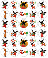30 x Cbeebies Bing Cupcake Toppers Edible Paper Fairy Cake Toppers