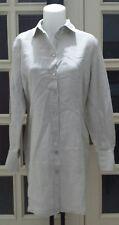 OVS vestito donna scamiciato lino bottoni madreperla tg 48 (misure descrizione)