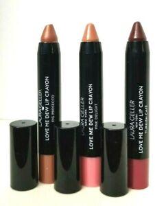 LAURA GELLER Love Me Dew Lip Crayon 0.10oz unbox SWAT TIPS PICK YOUR SHADE