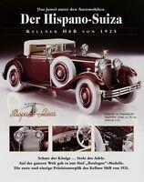Franklin Mint Prospekt 1994 Hispano-Suiza Kellner H6B Modellautoprospekt 1 Bl.
