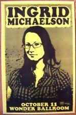INGRID MICHAELSON 2009 Gig POSTER Portland Oregon Concert