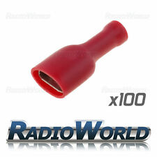 100x Insulated Red Female Spade Connectors Splice Terminals Crimp Electrical