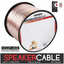 König 50m Reel De Twin 2,5 mm ² Ofc Speaker Cable (cobre libre de oxígeno) de audio Konig