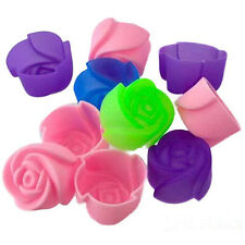 NEW 5PCS Rose Muffin Cookie Cup Cake Baking Chocolate Jelly Maker Mold Mould New