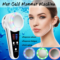 Hot&Cold Hammer Cryotherapy Massage Skin Tightening SPA Acne Facial Machine UK