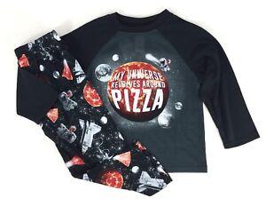 Children's Place Boys Long Sleeve 2pc Pajama Set Universe Pizza Size 4 (XS) NEW