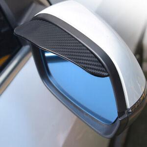 2Pcs Car Rear View Wing Mirror Black Sun Visor Shield Rain Board Eyebrow Guard