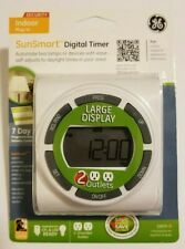 GE SunSmart Indoor Plug-In Digital 7-Day Timer (White) 15079